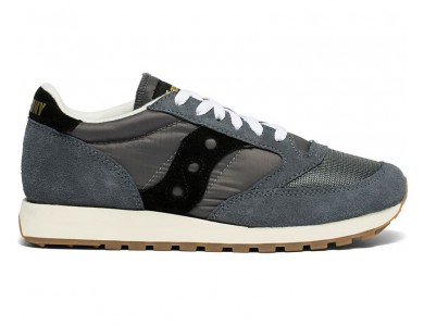 Мужские кроссовки Jazz O Vintage Grey/Black S70368-86 (suede logo)